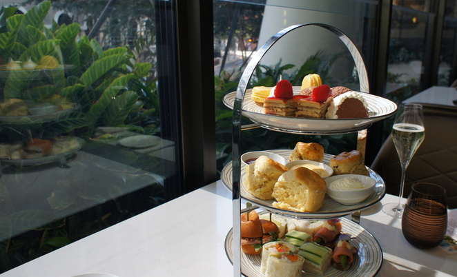 High tea at Eden's Table at Westin Hotel