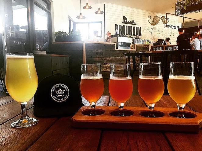 Hinterland ExBeerience Tour, Moffat Beach Brewing Co, tasting paddle, award-winning beers, Maleny, Brouhaha Brewery, lunch, restaurant, sours, saisons, pale ales, stouts, seasonal beers, Glass House Brewery and Restaurant, Sneaky Baron, TAPS Mooloolaba, six hours of fun, Father's Day gift