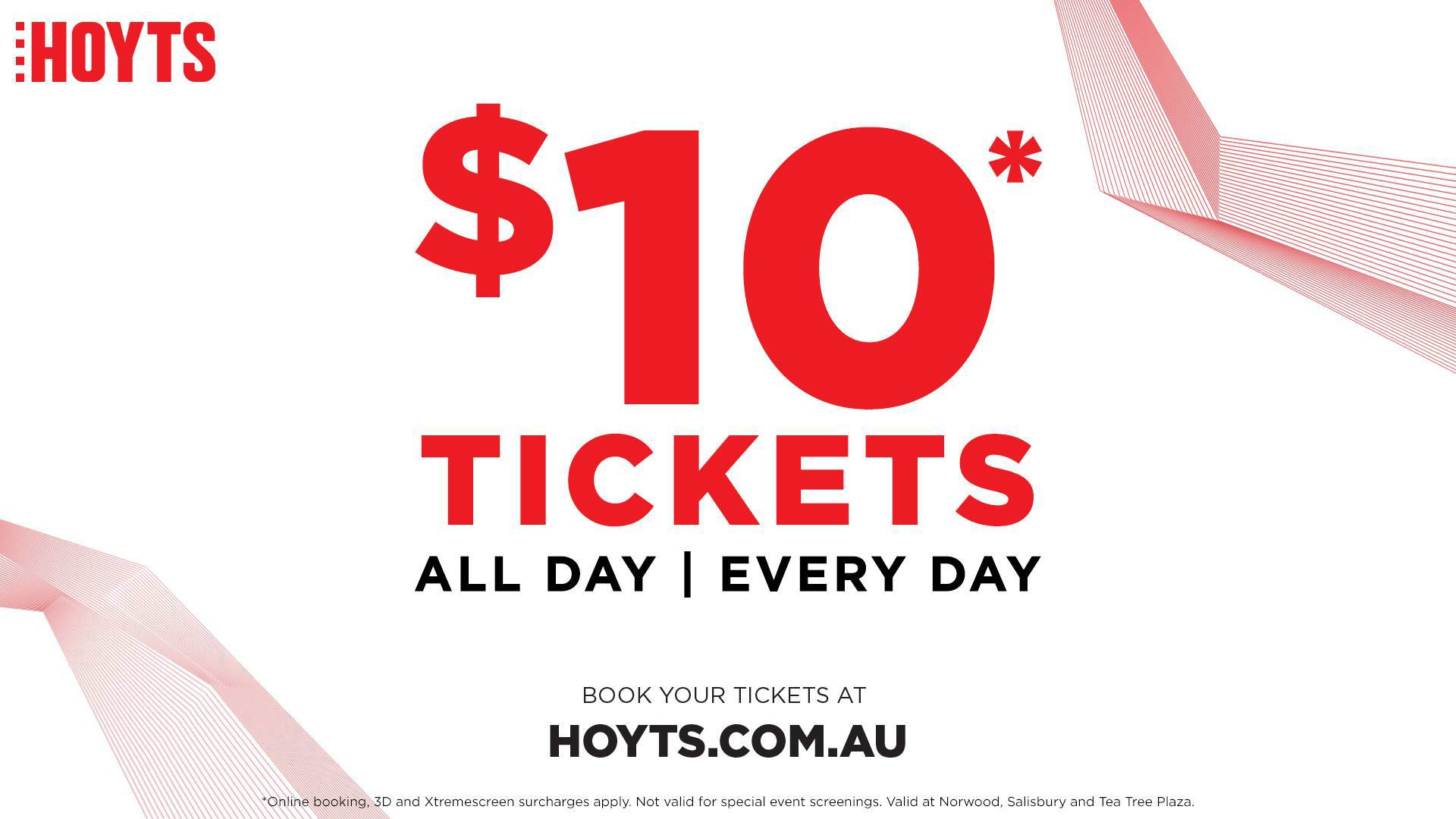 10 Movie Tickets At Hoyts Adelaide Adelaide