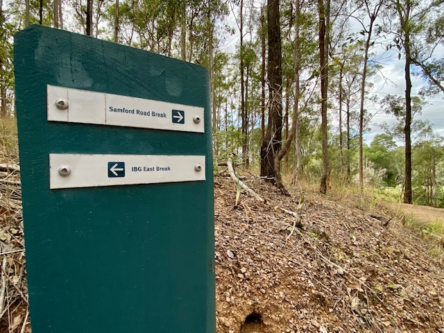 The trails here are exceptionally well signposted