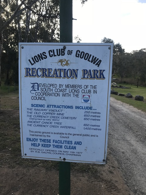 Lions Park. Currency Creek.