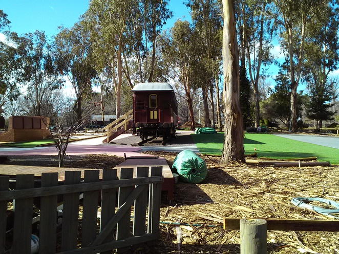 Mini Gold Course at Weston Park Miniature Railway, Canberra