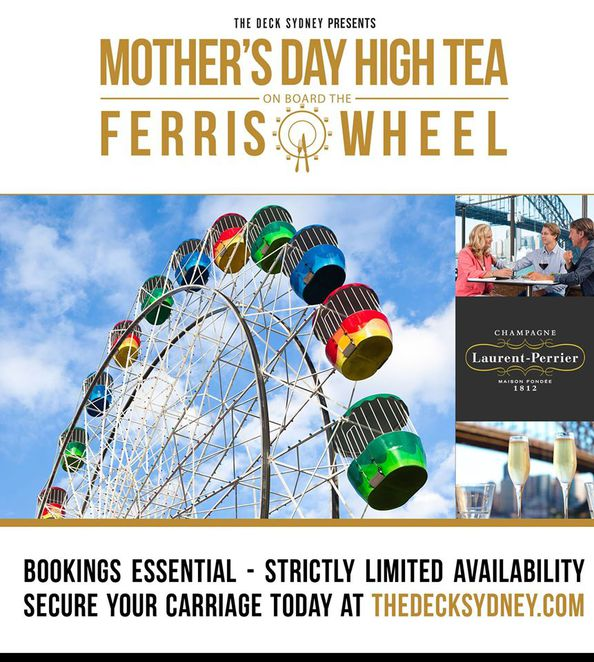 mothers day ideas sydney, high tea mothers day, luna park mothers day, the deck sydney mothers day