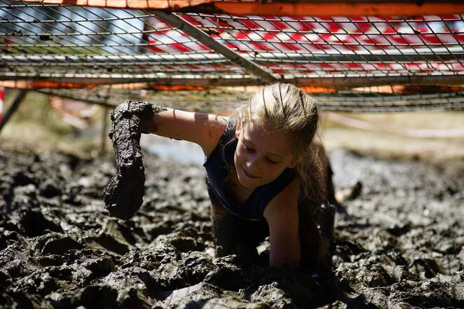 mud obstacle course kids