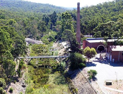 No. 1 Pumping Station, Mundaring Weir. Image from Wikimedia Commons (by SeanMack).