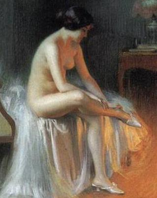 nude by firelight painting delphin enjolras