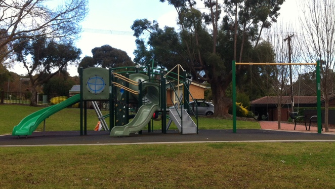 playground at the Pioneer Memorial Gardens