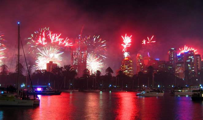 Riverfire seen from Riverlife