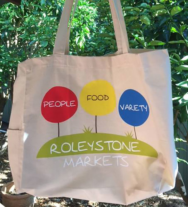 Roleystone Winter Market 2018. Pick up one of these handy bags at $5.00 each to support the community and help the environment.