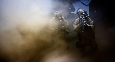 Navy Seals enter the building