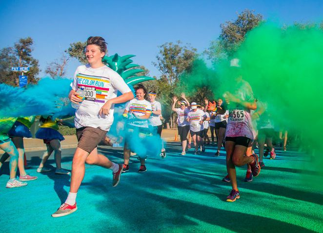 the color run, melbourne, australia, 5km, walk, exercise,
