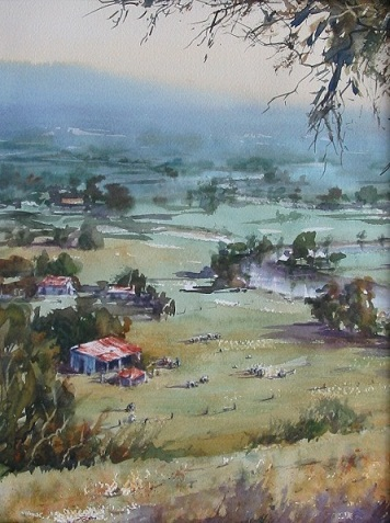 watercolour society of queensland, annual watercolour exhibition, mt coot-tha