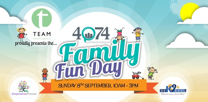 4074, family fun day, festival, stalls, community, free, kid friendly, food, craft, market