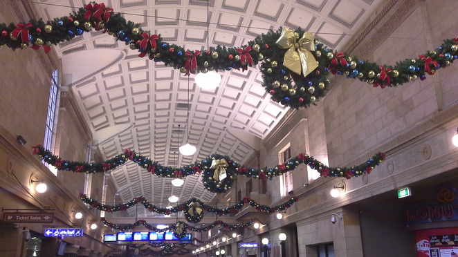 adelaide railway station christmas decorations