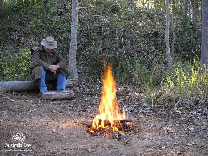 australia, aussie vault, fire, swagman, bush, national park, camp