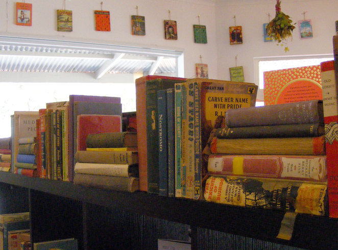 Old books for sale and on display at StudioRosa