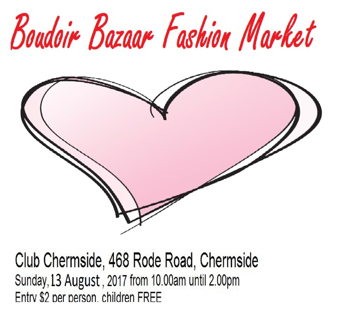 Boudoir Bazaar Fashion Market, Chermside, Club Chermside, second-hand, fashion, market, bargains, clothing,