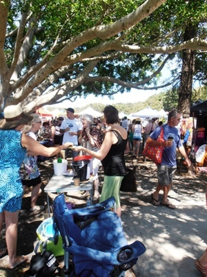Byron Bay Community Markets are a hive of activity on the first Sunday of every month.