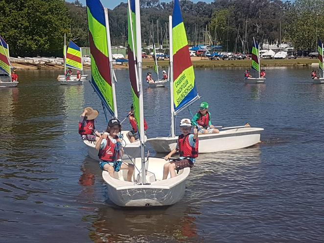 canberra yacht club, canberra, ACT, summer, sailing school, school holidays, 2017, 2018, summer, kids, beginners, sailing, yachts,