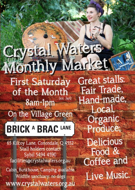 Crystal Waters community markets, markets, eco friendly, fair trade, organic produce, whats on in brisbane, sunshine coast, best markets in Queensland