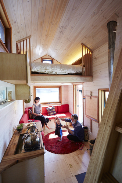 Fred & Shannon Shultz in their tiny house.