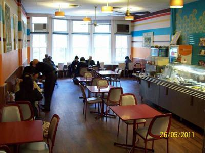 Gopals Restaurant in Melbourne. This image is from the Australian Hare Krishna centres website.