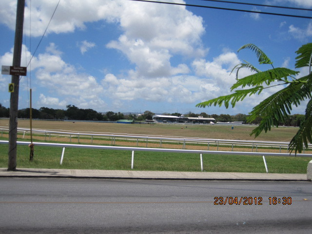 Grandstand View at Barbados Racecourse