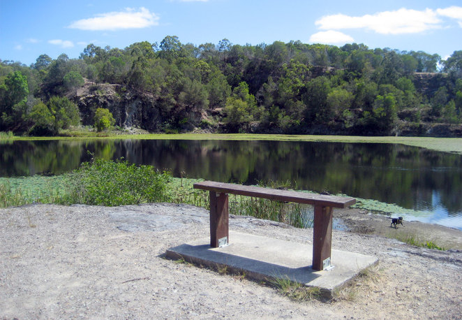 The quarry at Daisy Hill Conservation Park