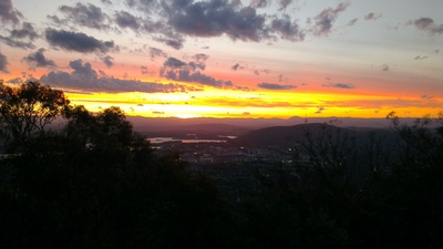 Sunset over Canberra from Mount Ainslie 1