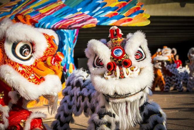 Lion Dancers for Lunar New Year celebrations in sydney