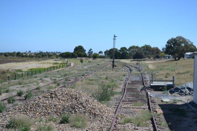 Track to nowhere. Last train left in June 1970.