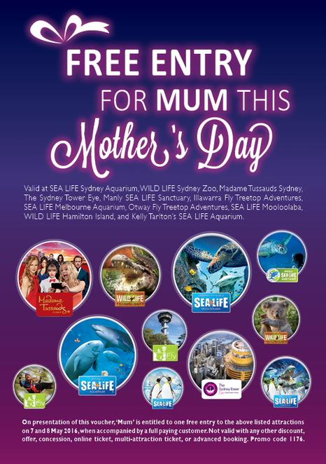 Free Entry for Mum this Mother's Day