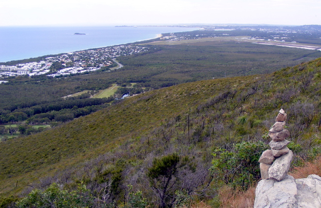 The view from the top of Mt Coolum