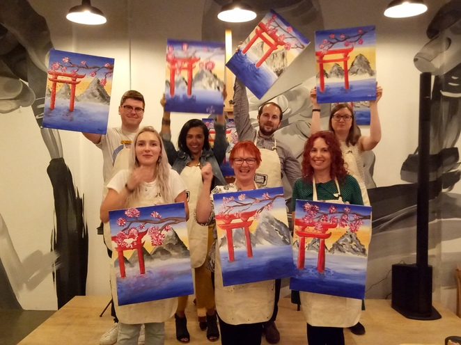 Paint and sip, creative workshop, painting workshop, fun things to do, inner artist, painting, sip wine, cheese platter