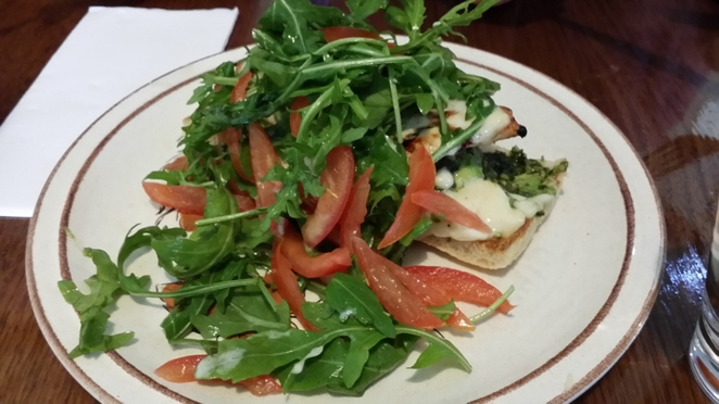 Queen Street Cafe, Chargrilled Chicken with Pesto, Provolone, Aioli, Avocado, Rocket and Tomato on Turkish, Adelaide