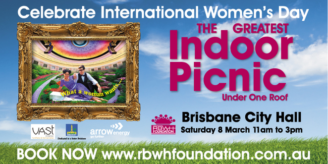 RBWH Foundation What a Woman Wants Indoor Picnic - image courtesy RBWH