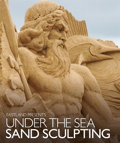 sand sculpting exhibition, eastland, sand sculpting, under the sea sand sculpting