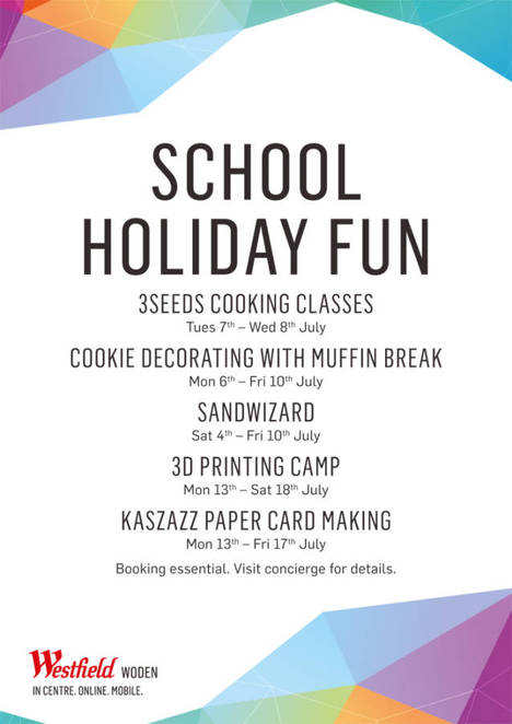 School holiday activities, Canberra, Woden