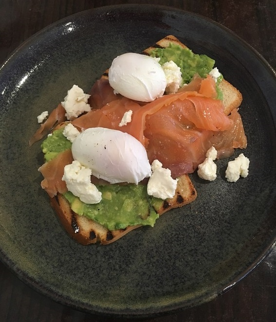 Smoked Salmon breakfast at Cafe Lune