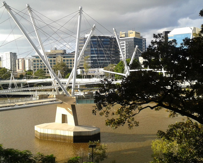 Kurilpa Bridge was inspired by the masts of the old tall ships