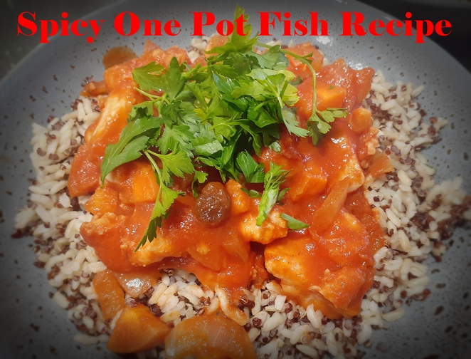 spicy one pot fish recipe, spicy, fish, seafood, one pot recipes, healthy, cumin, coriander, chill, winter, australia,