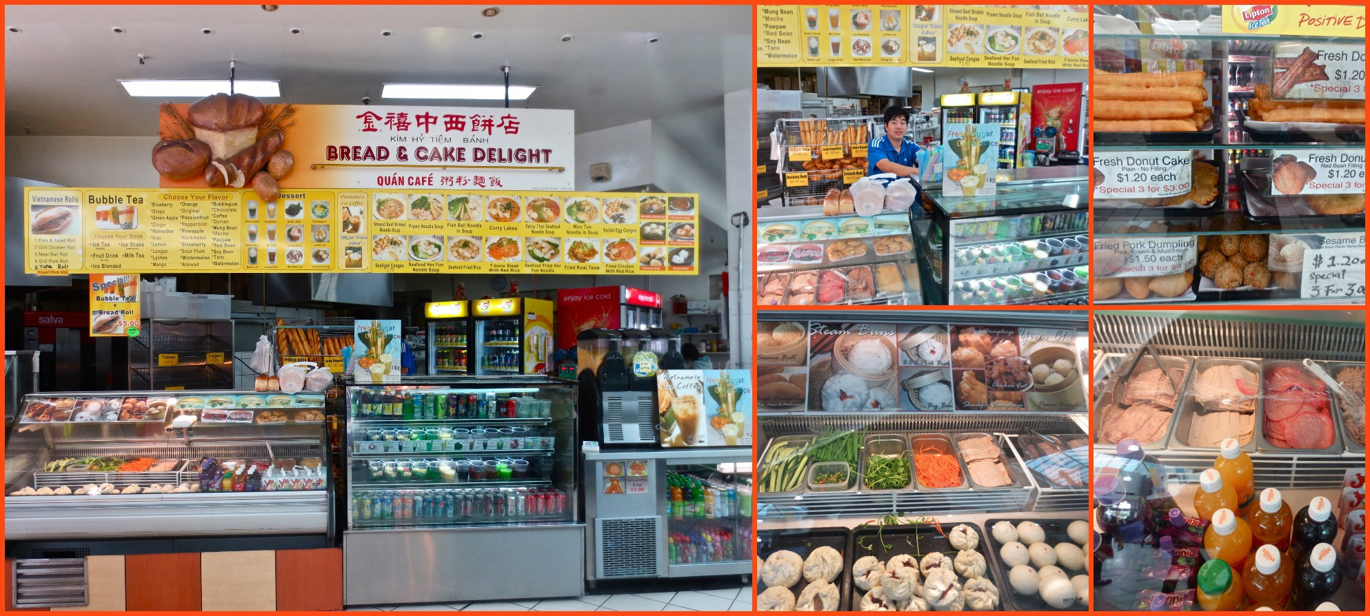 Springvale Central Asian Market Shopping Vegetables Fruit Groceries Clothing Bread And Cake Delight Quan Cafe For Vietnamese Rolls