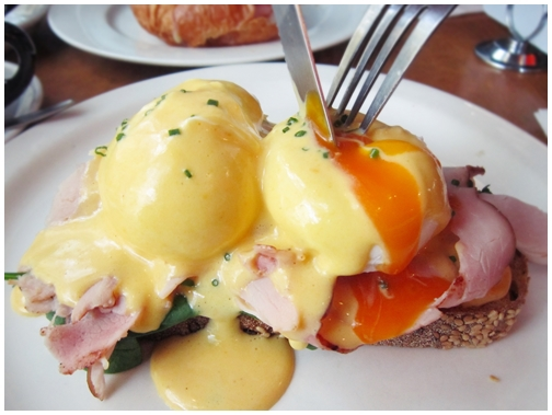That Place cafe, hardware lane, mocha, hollandaise sauce, eggs benedict, ham and cheese croissant, runny yolk