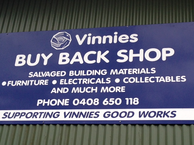 Vinnies Buy Back Shop, preloved clothing, used furniture, household goods, second hand goods, bric-a-brac, toys, books, electrical items, collectables, Murwillumbah