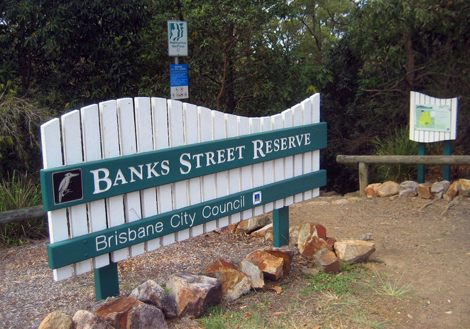 Banks Street Reserve is a nice destination for your walk