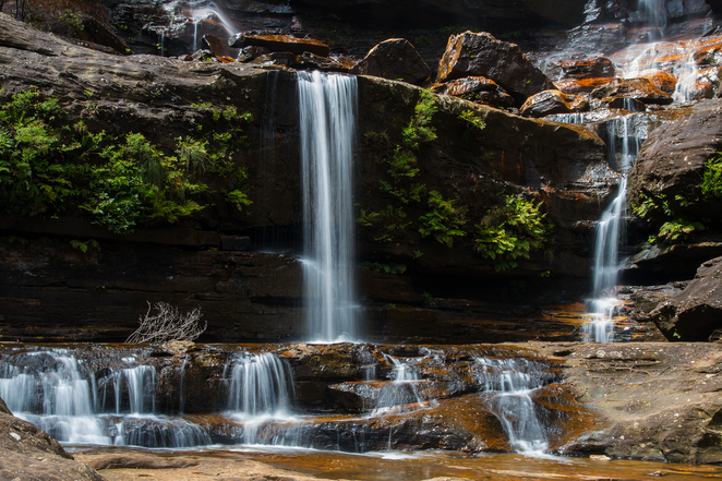 Wentworth Falls, Blue Mountains, waterfall