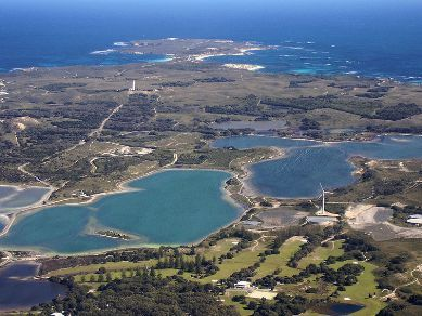 Aerial view of beautiful Rottnest Island