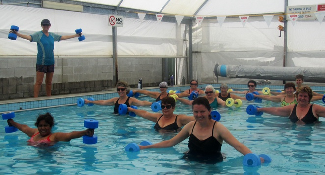Aqua aerobics, Enoggera pool, exercise, fitness, swimming, pool, non weight bearing exercise, heated pool, covered pool, Brisbane's northside