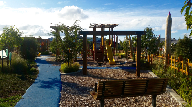 Armstrong Creek Park, Armstrong Creek Playground, play equipment,