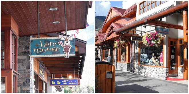 Banff shops, The Bare Moose, The Keg
